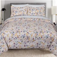 Nouvelle Home Floral Splatter 2-Piece Twin XL Comforter Set in Pink/Yellow