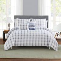 Scarborough Reversible 9-Piece California King Comforter Set in Blue