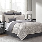 Alannis 8-Piece Reversible King Comforter Set in Oatmeal