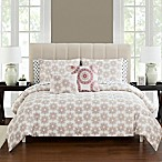 Tamara Reversible 9-Piece Queen Comforter Set in Brick