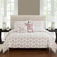 Tamara Reversible 9-Piece Full Comforter Set in Brick