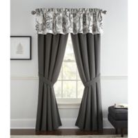 Rose Tree Valencia Window Valance in Platinum