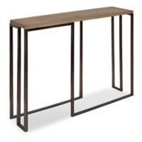 Kate and Laurel Kahlert Console Table in Rustic Brown