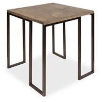 Kate and Laurel Kahlert End Table in Rustic Brown