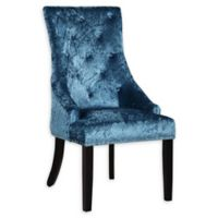 Chic Home Velvet Upholstered Rahel Dining Chairs in Teal (Set of 2)