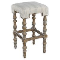 Linon Home Maryam Backless Bar Stool in Brown