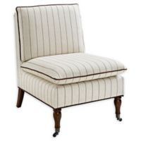Linon Home Peggy Slipper Chair in Brown