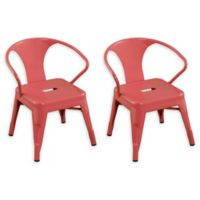 Acessentials® Metal Chairs in Pink (Set of 2)