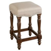 Linon Home Boone 24.5-Inch Backless Bar Stool in Walnut