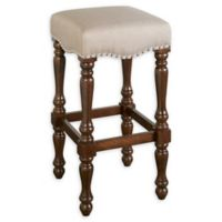 Linon Home Boone 30.5-Inch Backless Bar Stool in Walnut