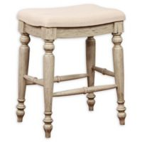 Linon Home Marino 25-Inch Backless Bar Stool in White