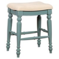 Linon Home Marino 25-Inch Backless Bar Stool in Blue