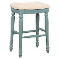 Linon Home Marino 30-Inch Backless Bar Stool in Blue