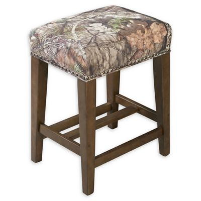 Superbe Linon Home Mossy Oak 24.5 Inch Backless Counter Stool