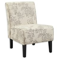Linon Home Toile Upholstered Accent Chair in Grey