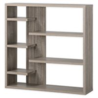Homestar North America LLC 6-Shelf Open Storage Bookcase in Grey/Brown