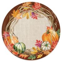 Creative Converting 24-Pack Harvest Wreath Paper Plates