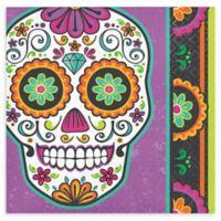 Creative Converting 48-Count Dia De Los Muertos Halloween Beverage Napkins