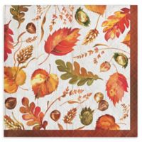 Creative Converting 48-Count Fall Give Thanks Thanksgiving Beverage Napkins