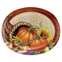 Creative Converting™ 24-Count Harvest Thanksgiving Oval Paper Plates