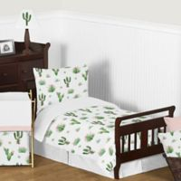 Sweet Jojo Designs Cactus Floral 5-Piece Toddler Bedding Set