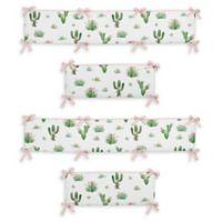 Sweet Jojo Designs Cactus Floral 4-Piece Crib Bumper Set