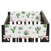 Sweet Jojo Designs Cactus Floral Side Rail Guard Covers (Set of 2)