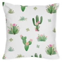 Sweet Jojo Designs Cactus Floral Square Throw Pillows (Set of 2)