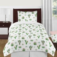 Sweet Jojo Designs Cactus Floral 4-Piece Twin Comforter Set