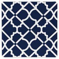 Sweet Jojo Designs Trellis Memo Board in Navy Blue/White