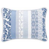 Laura Ashley® Evelyn Standard Pillow Sham in Blue