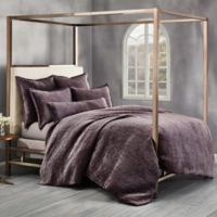 Wamsutta Collection Velvet Hand Sched King Duvet Cover In Eggplant