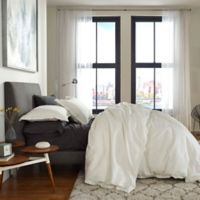 Flatiron® Washed Linen-Blend Queen Duvet Cover in Ivory