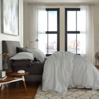 Flatiron® Washed Linen-Blend Queen Duvet Cover in Silver