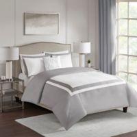 510 Design Carroll Full/Queen Duvet Cover Set in Grey