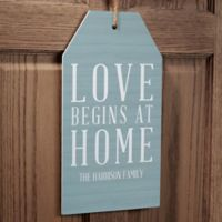 Love Begins At Home Wall Tag