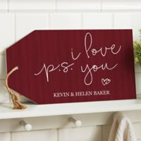 P.S. I Love You Wall Tag