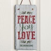Peace, Joy, Love Slate Plaque