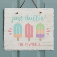 Summer Popsicle Slate Plaque