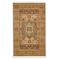 """Unique Loom Jackson Palace 3'3"""" X 5' Powerloomed Area Rug in Brown"""
