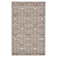 "Unique Loom Joyous Damask 3'3"" X 5' Powerloomed Area Rug in Light Brown"