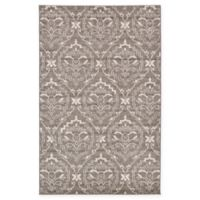 Unique Loom Joyous Damask 5' X 8' Powerloomed Area Rug in Light Brown