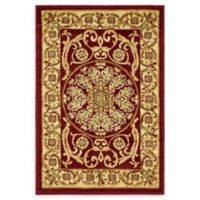 "Unique Loom Napoleon Versailles 2'2"" X 3' Powerloomed Area Rug in Red"