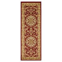 "Unique Loom Napoleon Versailles 2'2"" X 6' Runner Powerloomed in Red"