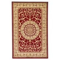 Unique Loom Napoleon Versailles 5' X 8' Powerloomed Area Rug in Red