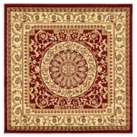 Unique Loom Napoleon Versailles 6' X 6' Powerloomed Area Rug in Red
