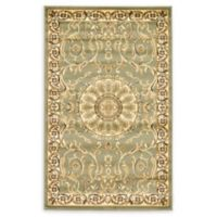 "Unique Loom Napoleon Versailles 3'3"" X 5'3"" Powerloomed Area Rug in Light Green"