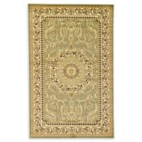 Unique Loom Napoleon Versailles 5' X 8' Powerloomed Area Rug in Light Green