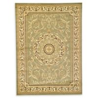 Unique Loom Napoleon Versailles 7' X 10' Powerloomed Area Rug in Light Green