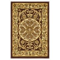 "Unique Loom Napoleon Versailles 2'2"" X 3' Powerloomed Area Rug in Brown"